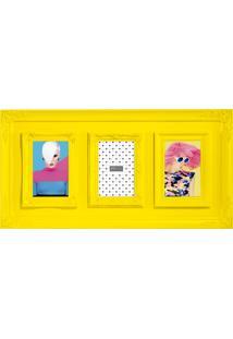 Porta-Retrato 10X15 - 3 Fotos Mart Amarelo
