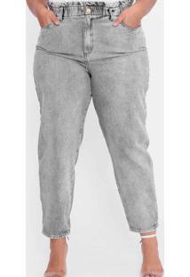 Calça Almaria Plus Size Tal Qual Jeans Cinza Cinza