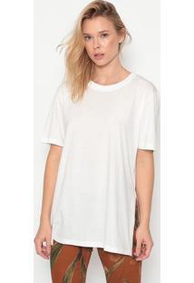 Camiseta Lisa Com Fenda - Branca - Forumforum