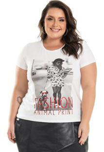 Blusa Fashion Print Branco