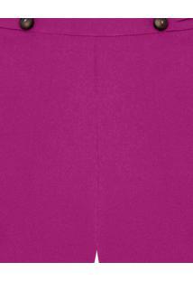 Shorts Cintura Alta Botões Violeta Tamisa - Lez A Lez