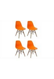 Kit Mpdecor 04 Cadeiras Eiffel Charles Eames Laranja