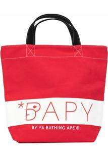 Bapy By *A Bathing Ape® Bolsa Tote De Canvas - Vermelho