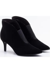 Ankle Boot Bebecê Nobuck Preta 33