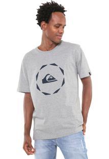Camiseta Quiksilver Square Cinza