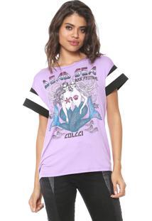 Camiseta Colcci Dead Sea Lilás