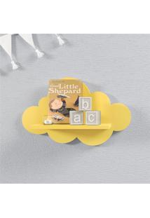 Prateleira Nuvem Amarela Mdf P 30Cm Grão De Gente Amarelo