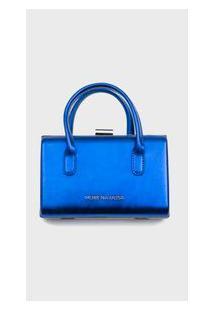 Bolsa Morena Rosa Clutch Com Alça De Mão Azul - P