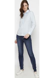 Camisa Slim Fit Lisa- Azul Claro- Lacostelacoste