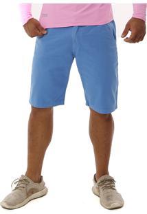 Bermuda Bamborra Denim Tradicional Brim Sarja Lisa Azul
