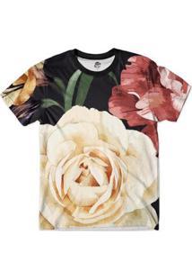 Camiseta Bsc Floral S Full Print - Masculino-Preto