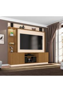 Estante Para Home Theater E Tv 65 Polegadas Atlanta Cinamomo E Off White