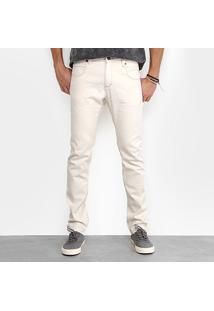Calça Slim Foxton Fit Lavagem Clara Masculina - Masculino-Jeans