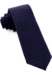 Gravata Pierre Cardin Slim Azul-Marinho