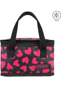 Bolsa Térmica Animal- Preta Rosa- 22X14X14Cm- Jacki Design