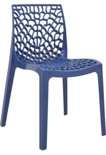 Cadeira Gruvyer Azul Avio Rivatti Móveis
