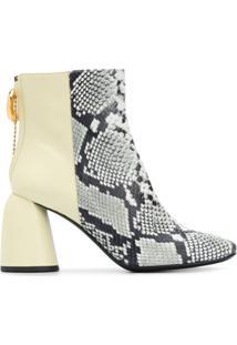 Ellery Ankle Boot Clemente Com Salto 85Mm - Amarelo