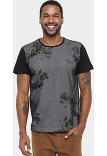 Camiseta Local Tela Flowers - Masculino
