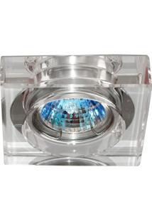 Spot Gu10 Embutir Quadrado Cristal 50W Cromado Bella Iluminação Bivolt