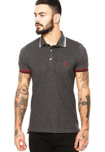 Camisa Polo Sergio K Listras Cinza