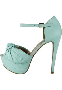 Sandália Week Shoes Salto Alto Meia-Pata Azul Tiffany