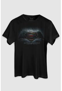 Camiseta Dc Comics Batman Vs Superman Dawn Of Justice Bandup! - Masculino-Preto