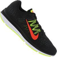 c7b72c50f Tênis Nike Zoom Winflo 5 - Masculino - Preto Verde Cla