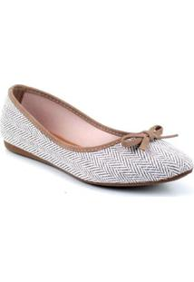 Sapatilha Tag Shoes Lona Etnica Feminina - Feminino-Bege