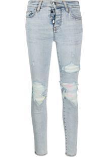 Amiri Calça Jeans Skinny Rasgada - Azul
