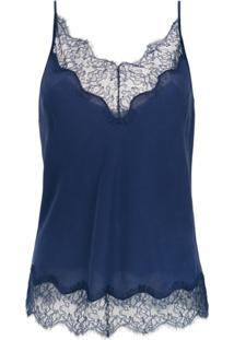 Le Lis Blanc Blusa 'Mila 5' Renda - Azul