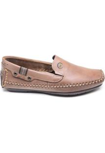 Sapato Masculino Mocassim Pegada Marrom