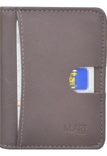 Carteira M.Art Slim Pelica 214C Marrom