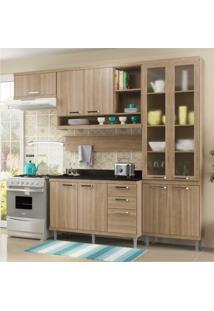Cozinha Completa Multimóveis Com 6 Peças Sicília 5817 Argila/Argila