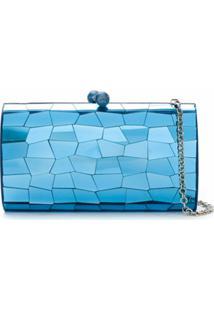 Serpui Clutch Metalizada - Azul
