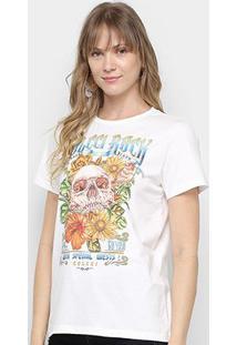 Camiseta Colcci Rock Skull Feminina - Feminino