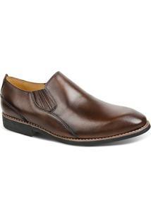 Sapato Masculino Linha Premium Side Gore Sandro Moscoloni 16213 Marrom Escuro