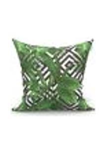 Capa Para Almofada Nord Folhas Verde 45X45 Cm