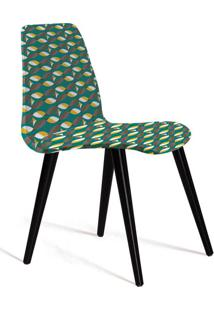 Cadeira De Jantar Eames Palito Preta E Verde