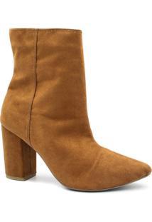 e73ec4f225 ... Bota Zariff Shoes Verniz Feminina - Feminino-Marrom