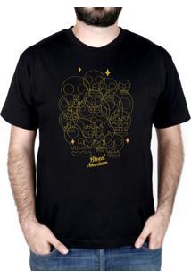 Camiseta Bleed American Calaveritas Preta