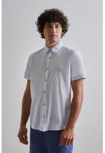Camisa Pf Leve Verano Mc Reserva Masculina - Masculino-Azul Claro