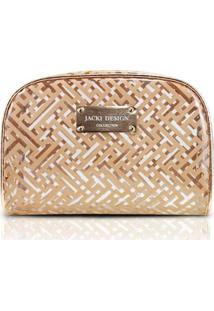 Necessaire Retangular G Jacki Design - Feminino-Dourado