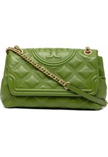 Tory Burch Fleming Convertible Quilted Shoulder Bag - Verde