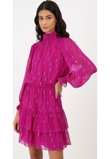 Vestido Seda Brenda - Roxo - Pp