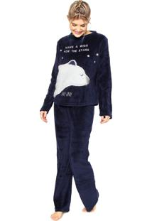 Pijama Any Any Soft Polar Bear Azul-Marinho