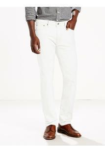 Calça Jeans 513 Slim Straight Levis - Masculino-Branco