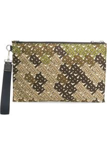 Burberry Monogram Clutch - Verde