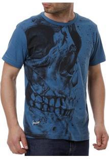 Camiseta Manga Curta Masculina Gangster Azul