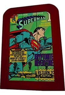 Porta-Chaves 6 Ganchos Dc Comics Superman Flying Verde Em Madeira - Urban - 40X28 Cm