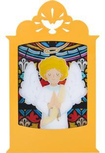 Luminária Carambola Anjo Da Guarda Amarelo